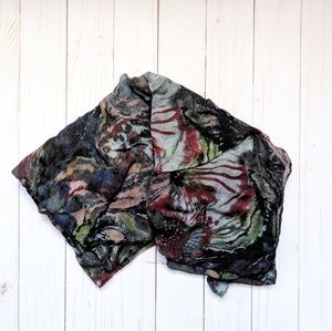 H&M Lightweight oversized floral cowl